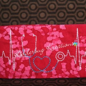 checkbook cover-stethescope