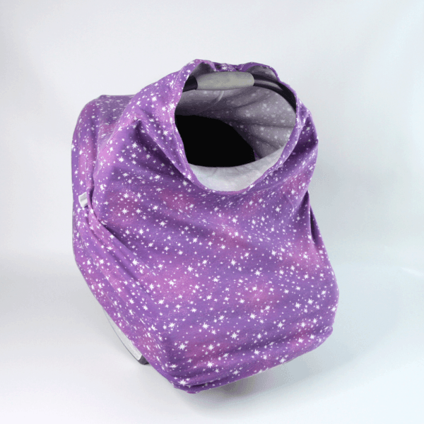 Stretchy Car Seat Cover-purple stars