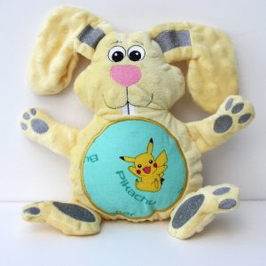 Stuffed Animal Bunny -small with fabric belly