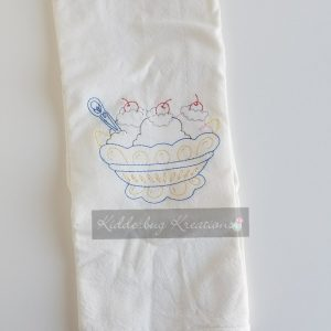 Sundae Coloring Dishtowel