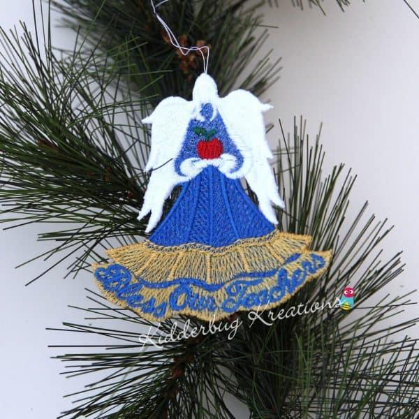 Bless Our Teachers Lace Ornament