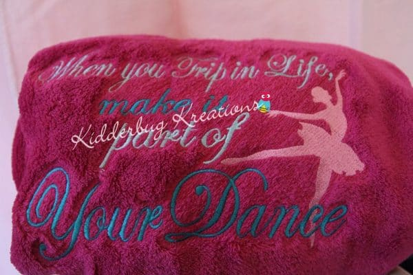 """""""When You Trip in Life, Make it Part of Your Dance"""" Blanket"""