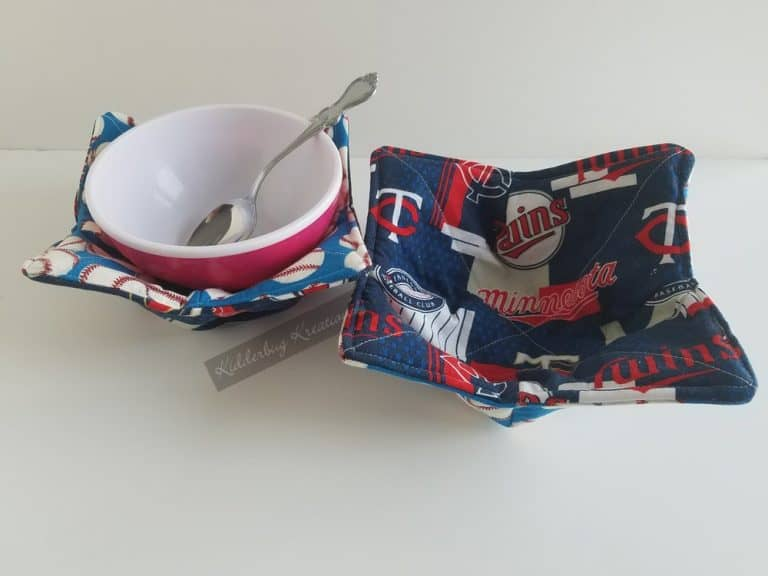 Twins Baseball Fabric Microwavable Bowl Holder