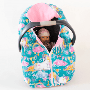 Unicorn Fleece Infant Car Seat Cover