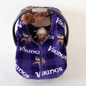 Vikings Infant Car Seat Cover