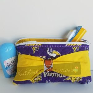 Toiletries bag in Vikings fabric