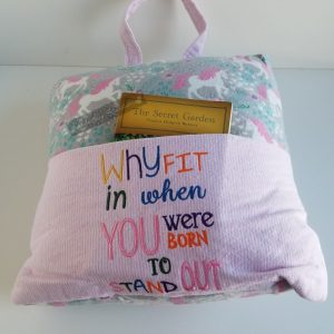 """Why Fit In"" Reading Pillow"