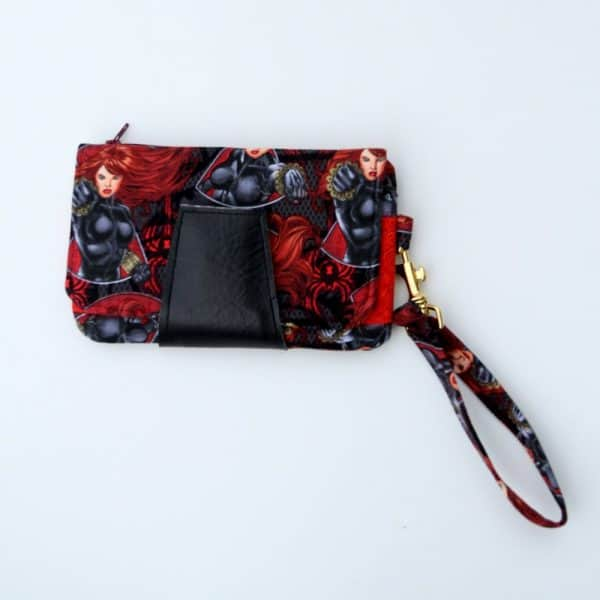 Black Widow Fabric Clutch Purse