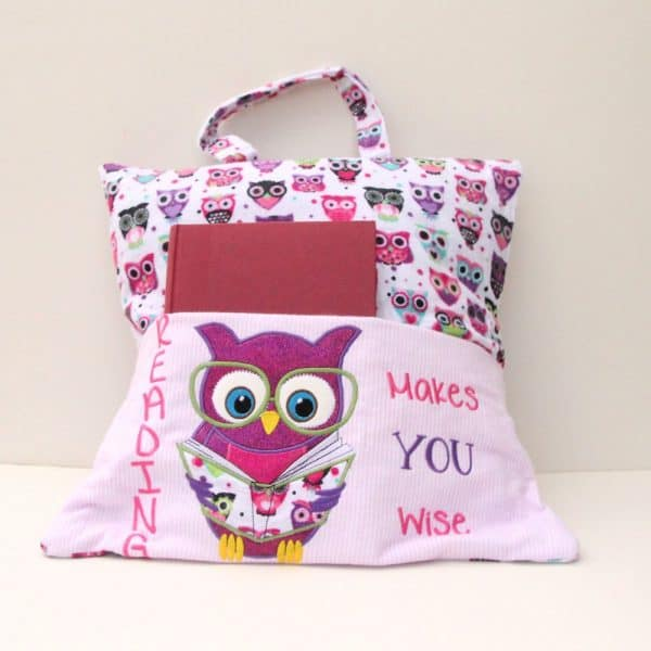"""Reading Makes You Wise"" (Large Owl) Reading Pillow"