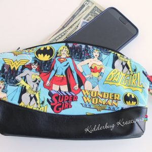 Women superheroes clutch purse