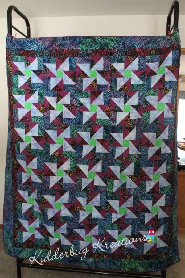 Zebra Print Border Quilt