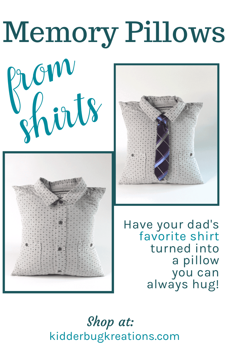 Memory Pillow from Collared Dress Shirts