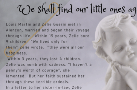 angel with quote from St. Zelie Martin