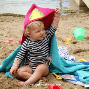 Unique Gift Hooded Towel from Kidderbug Kreations @kidderbugkreations.com