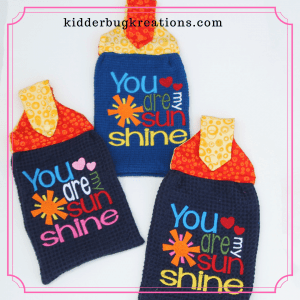 Customized Unique Gift Dishtowels from Kidderbug Kreations @kidderbugkreations.com