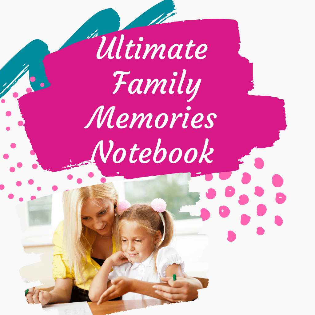 Ultimate Family Memories Notebook with a woman and girl looking at a Notebook