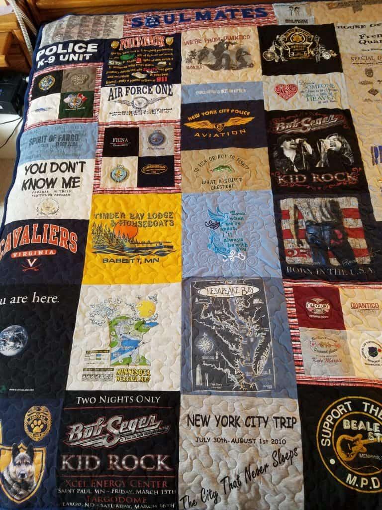 T-shirt memoiral quilt