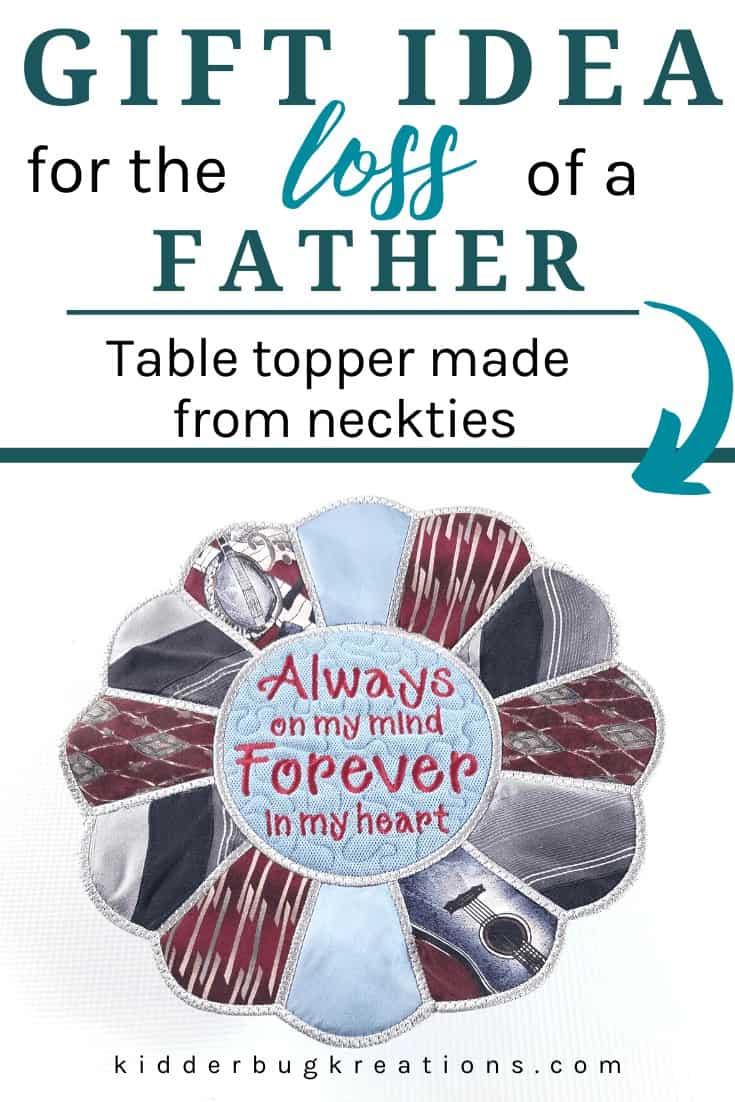 Necktie Memory Table Topper