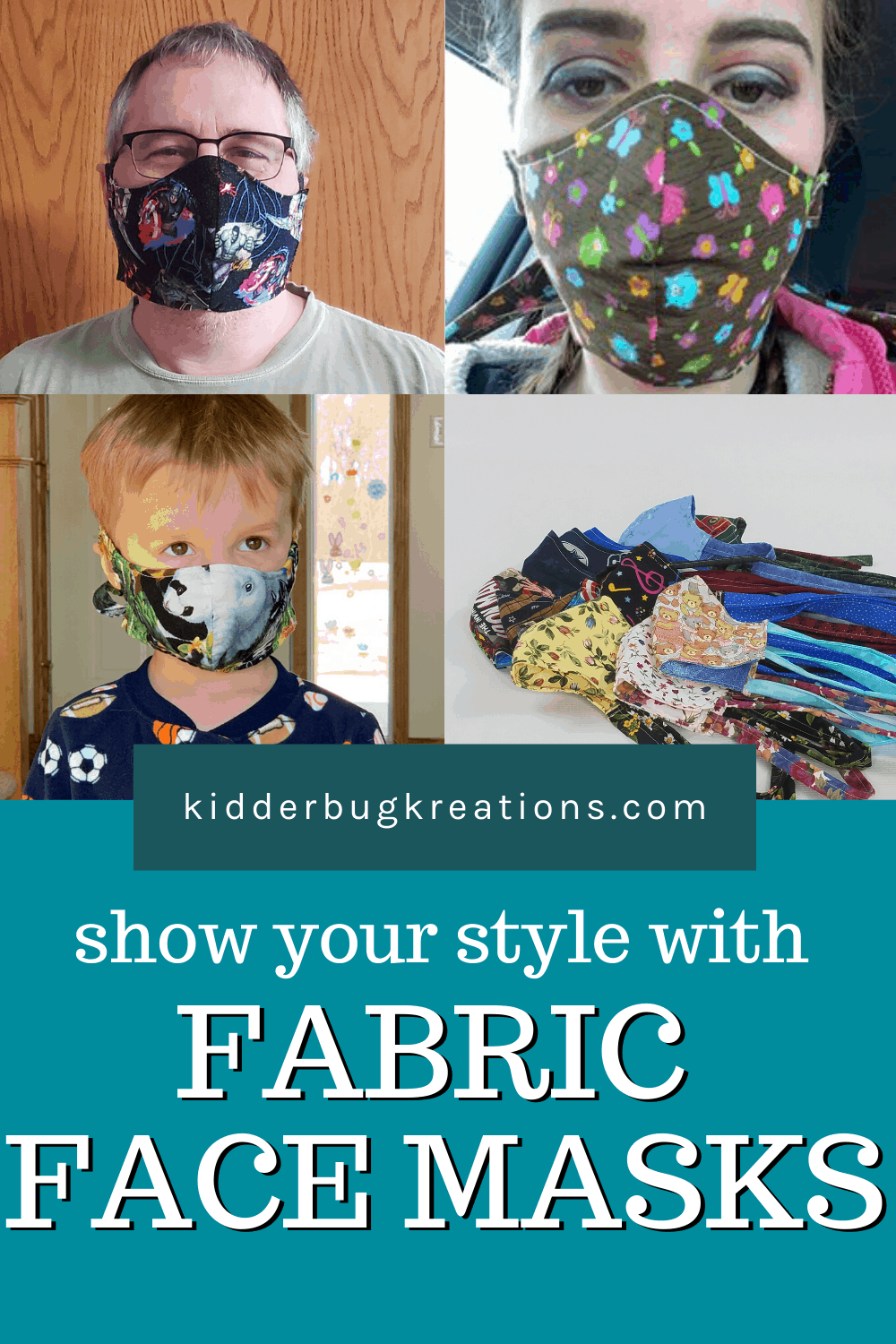 Fabric Face Masks With Ties