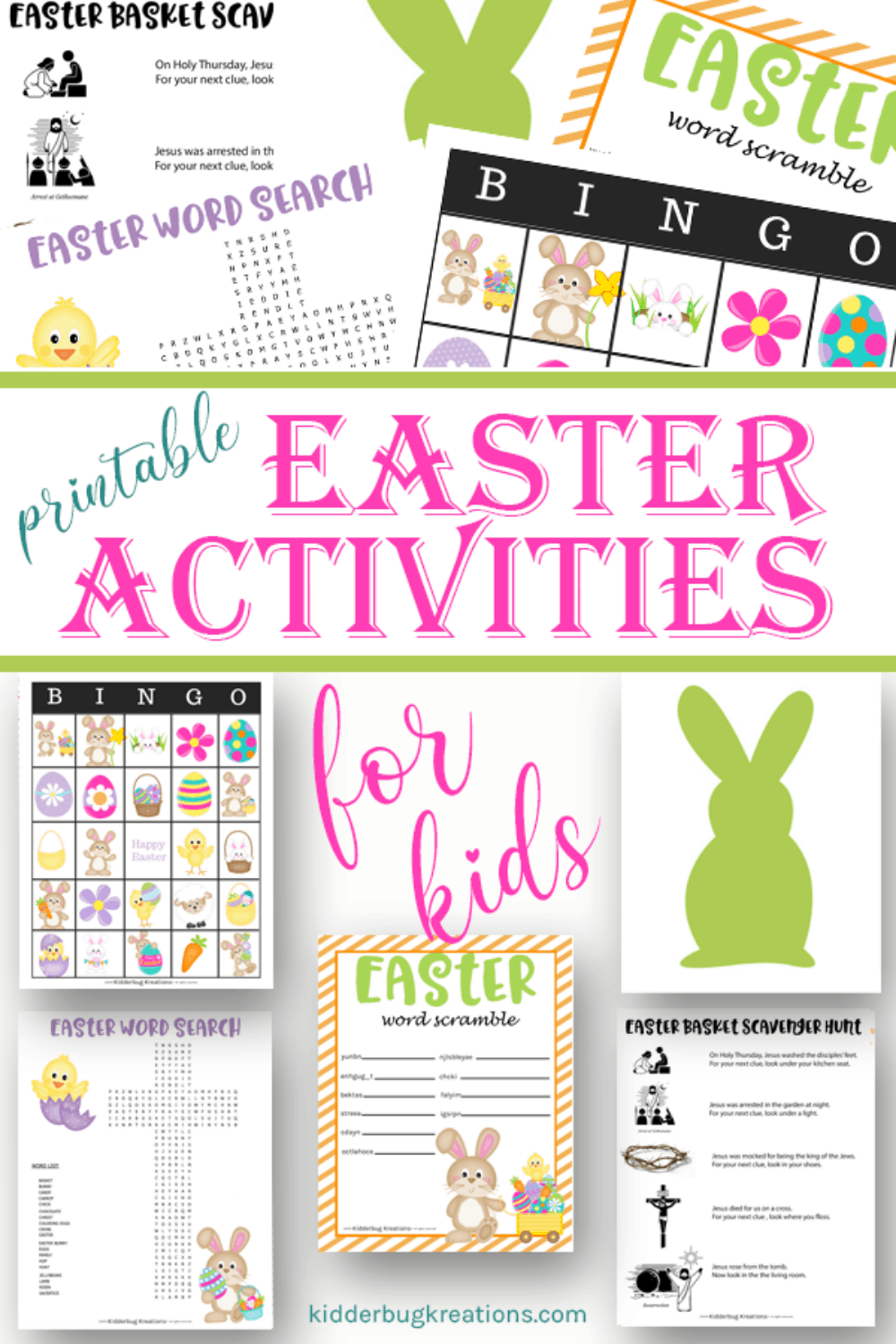 Printable Easter Activity Sheets