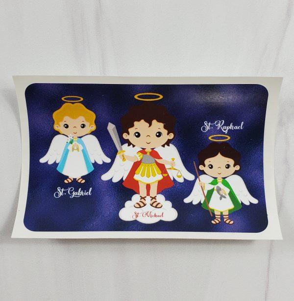 3 white Archangel vinyl stickers from Kidderbug Kreations