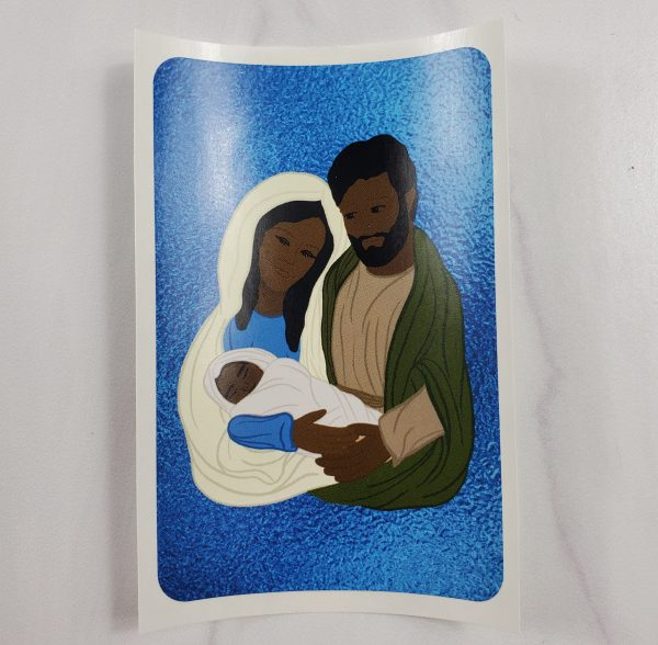 Black skin toned Holy Family vinyl stickers