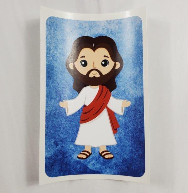 Jesus vinyl sticker-white skin tone.