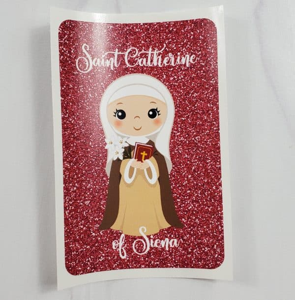 Saint Catherine of Siena vinyl sticker from Kidderbug Kreations