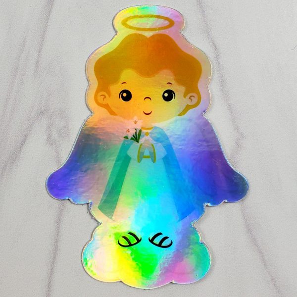 Holographic Saint Gabriel vinyl sticker from Kidderbug Kreations