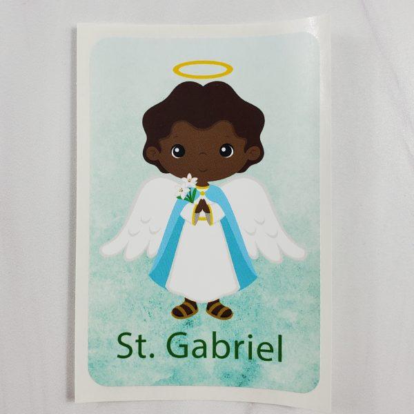 Black St. Gabriel vinyl sticker from Kidderbug Kreations.