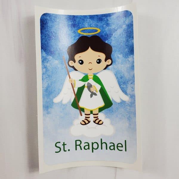 White St. Raphael vinyl sticker from Kidderbug Kreations