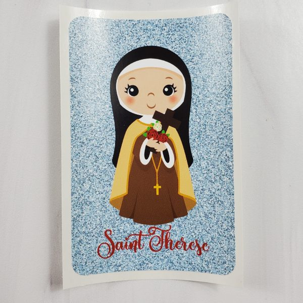 Saint Therese vinyl sticker from Kidderbug Kreations