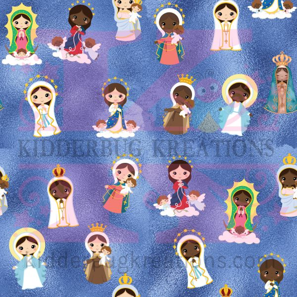 A Hail Mary baby blanket featuring Mary in various versions such as Our Lady of Lourdes is a perfect baby gift or Baptism gift.