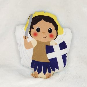 A St. Michael fabric doll featuring St. Michael and children of various colors is a perfect baby gift or Baptism gift.