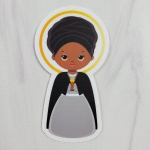 St. Bakhita vinyl sticker from Kidderbug Kreations.